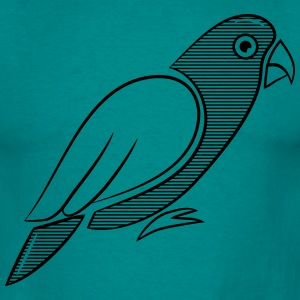 Conception Parrot bird rayé Tee shirts - T-shirt Homme