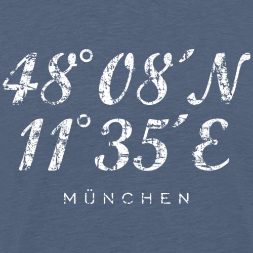 München Koordinaten Vintage Weiß