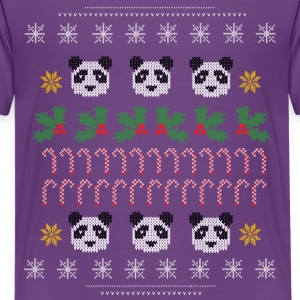 Weihnachten Ugly Sweater Panda - Teenager Premium T-Shirt