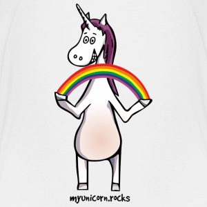 Magic unicorn with rainbow Camisetas - Camiseta premium niño
