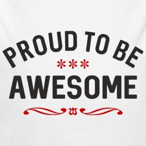 Proud to be awesome black red - Baby Bio-Langarm-Body