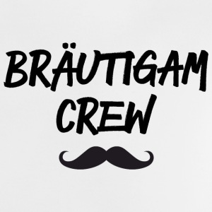 Bräutigam Crew Moustaches black Baby T-Shirts - Baby T-Shirt