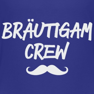 Bräutigam Crew Moustaches grey T-Shirts - Kinder Premium T-Shirt