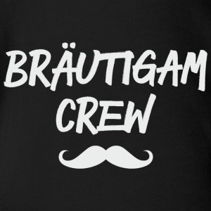 Bräutigam Crew Moustaches grey Baby Bodys - Baby Bio-Kurzarm-Body