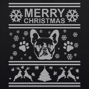 FRENCH BULLDOG CHRISTMAS EDITION Bags & Backpacks - EarthPositive Tote Bag