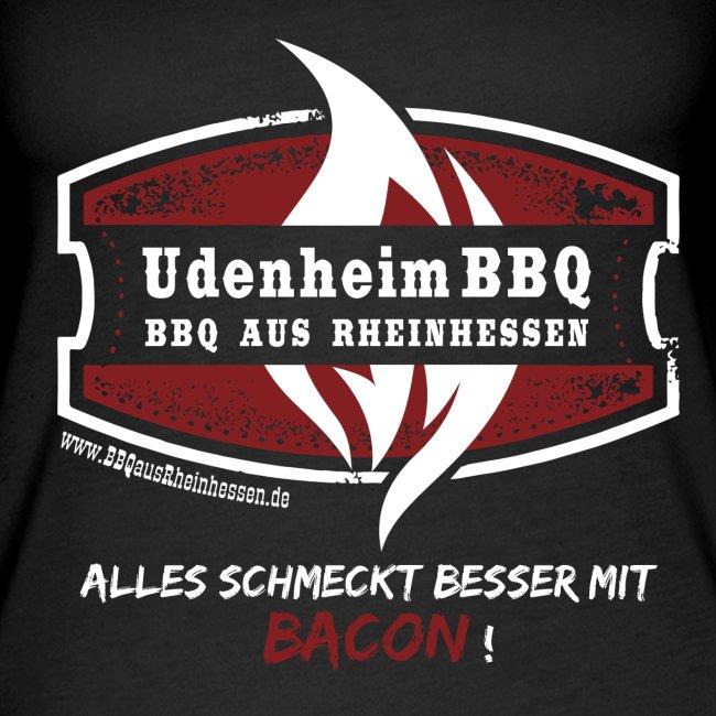 """Tank Top Schwarz """"Alles schmeckt besser mit Bacon"""""""