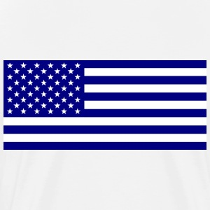 American_flag_blue1 - Premium T-skjorte for menn