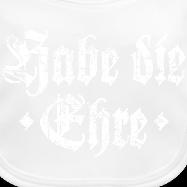 Habe die Ehre (Vintage/Weiß) Babylätzchen