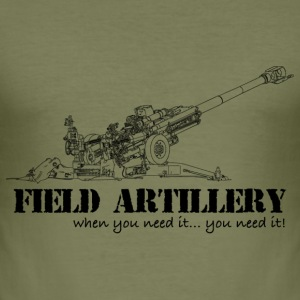 field artillery T-Shirts - Men's Slim Fit T-Shirt