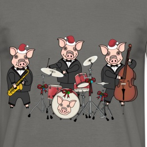 Christmas pig band t-shirt for men - Men's T-Shirt