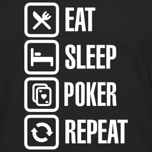 Eat - sleep - poker - repeat Langærmede t-shirts - Herre premium T-shirt med lange ærmer
