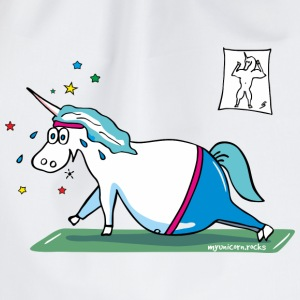 Fluffy fat unicorn  Bags & Backpacks - Drawstring Bag