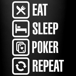 Eat - sleep - poker - repeat Krus & tilbehør - Ensfarvet krus
