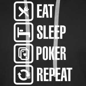 Eat - sleep - poker - repeat Felpe - Felpa con cappuccio premium da uomo