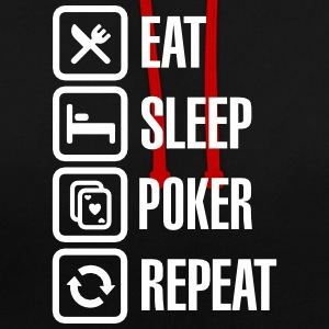 Eat - sleep - poker - repeat Sweaters - Contrast hoodie
