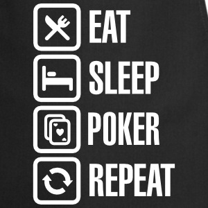 Eat - sleep - poker - repeat Kookschorten - Keukenschort