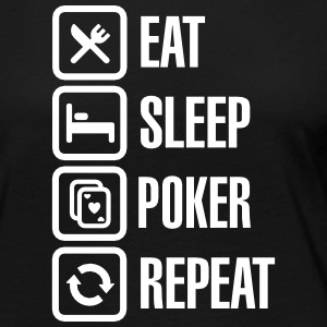 Eat - sleep - poker - repeat Manches longues - T-shirt manches longues Premium Femme
