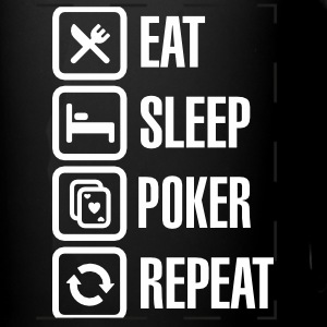 Eat - sleep - poker - repeat Mokken & toebehoor - Panoramamok gekleurd