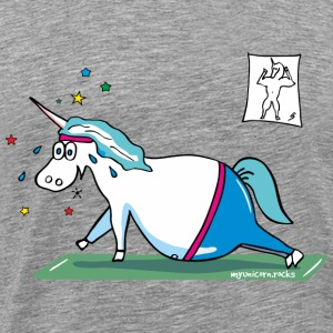 Fluffy fat unicorn - mopsiges Einhorn T-Shirts - Männer Premium T-Shirt