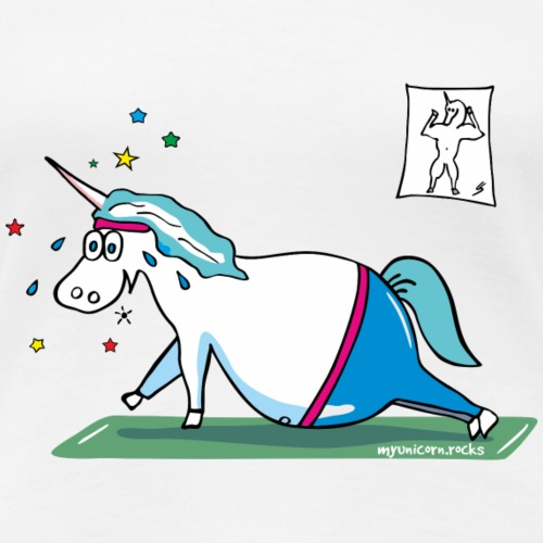 """Fluffy"" fat unicorn - mopsiges Einhorn"