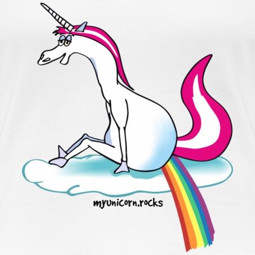 Unicorn pooping rainbow - Einhorn pupst Regenbogen