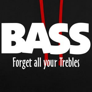 BASS forget all your Trebles Hoodies & Sweatshirts - Contrast Colour Hoodie