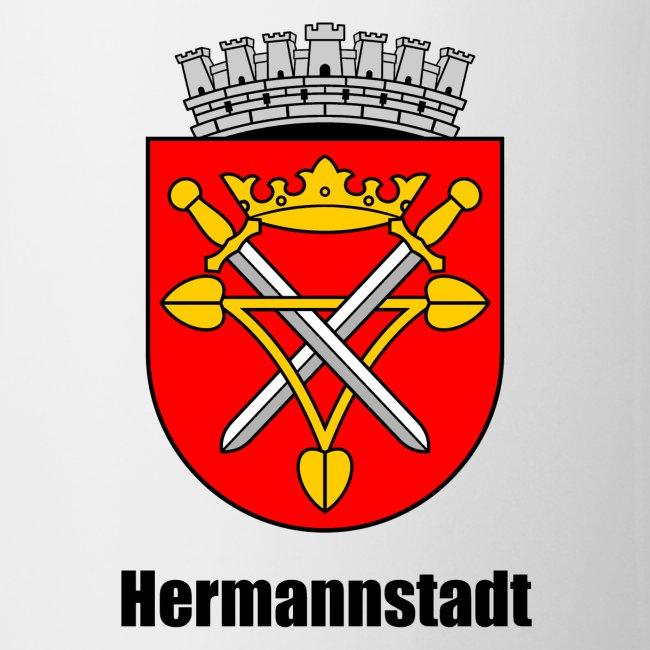 """Kaffeepott """"Hermannstadt"""" mit dem historischen Stadtwappen"""