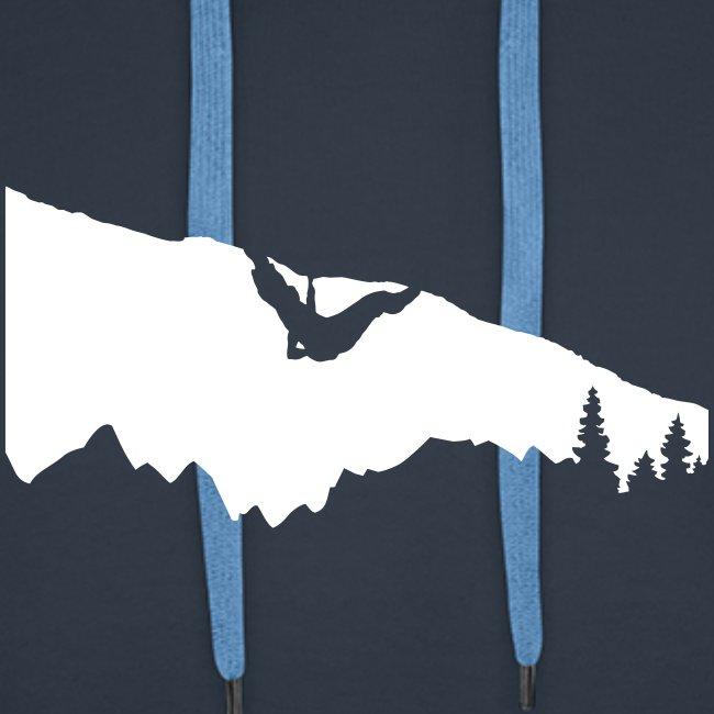 Boulderer im Überhang