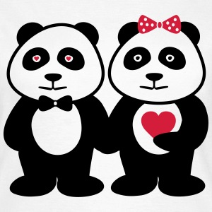 Panda in love - couple, couples - Women's T-Shirt
