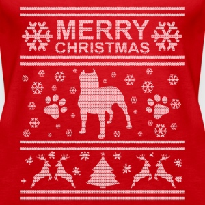 I LOVE MY PIT BULL CHRISTMAS SEDITION Tops - Women's Premium Tank Top