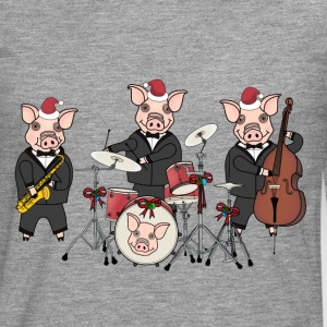 Christmas pig band t-shirt for men - Men's Premium Longsleeve Shirt