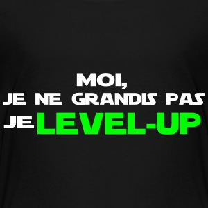 moi, je ne grandis pas je Level up - T-shirt Premium Enfant