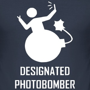 Designated Photobomber (Reflective) - Men's Slim Fit T-Shirt