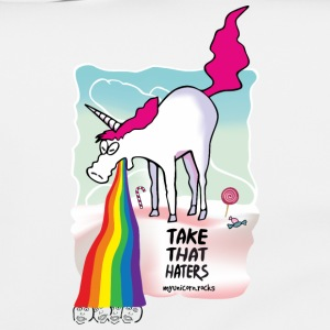 Unicorn throwing up rainbow Vesker & ryggsekker - Skulderveske