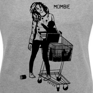 Mombie T Grey - Women's T-shirt with rolled up sleeves