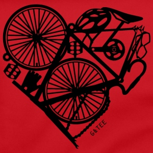 Bike Heart Bag Red - Shoulder Bag