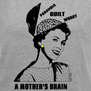 Mother's Brain T Grey - Women's T-shirt with rolled up sleeves