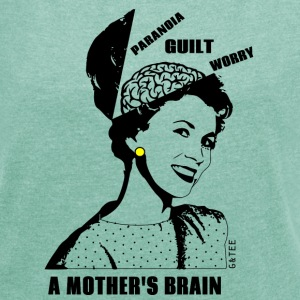 Mothers Brain T Mint - Women's T-shirt with rolled up sleeves