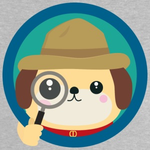 Dog Detective with magnifying glass Baby Shirts  - Baby T-Shirt