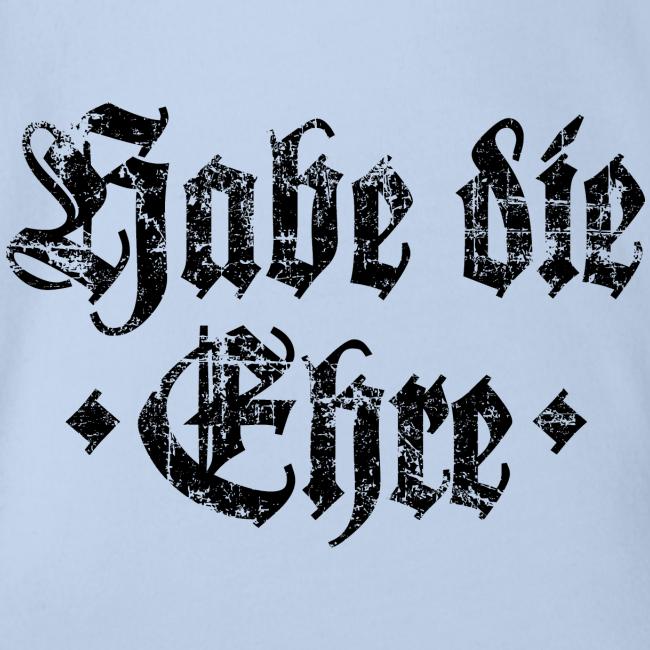 Habe die Ehre (Vintage/Schwarz) Babybody
