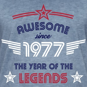 Awesome since 1977 T-Shirts - Männer Vintage T-Shirt