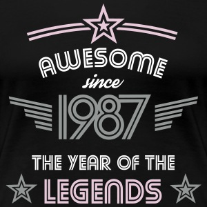 Awesome since 1987 T-Shirts - Frauen Premium T-Shirt