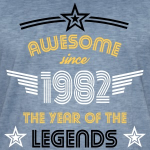 Awesome since 1982 T-Shirts - Männer Vintage T-Shirt