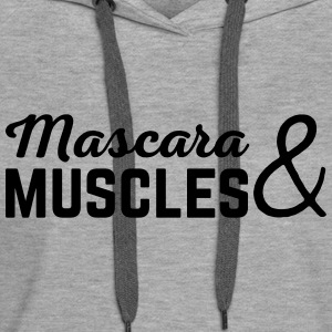 Mascara & Muscles Gym Quote  Sweatshirts - Dame Premium hættetrøje