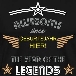Awesome since.... frei personalisierbar  T-Shirts - Männer Premium T-Shirt