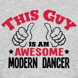 this guy is an awesome modern dancer 2co - Men's T-Shirt