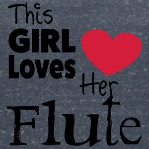 This Girl Loves Her Flute Tee shirts - T-shirt col V Femme