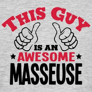 this guy is an awesome matador 2col - Men's T-Shirt