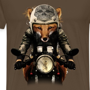 Noble brown Fox Biker T-Shirts - Men's Premium T-Shirt