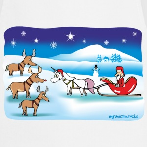 Christmas Unicorn - santa and reindeer Tabliers - Tablier de cuisine